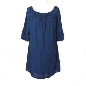 Madewell Fully Lined Cotton Navy Tunic Dress